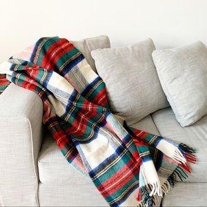 Glenfiddich Scottish Plaid Pure Wool Throw Blanket